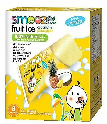 Smooze All Natural Coconut with Pineapple Fruit Ice, 17.6 Ou