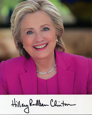Hillary Clinton - Democratic Nomination for President - Signed Autograph REPRINT