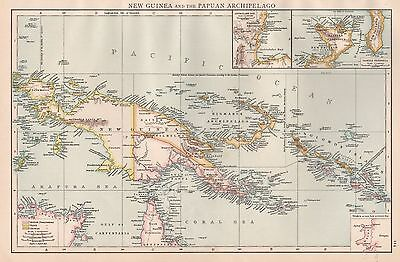 1896  Large Antique  Map : New Guinea And Papuan Archipelago