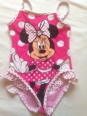 Minnie Mouse Swimming Costume - Girls Aged 4