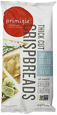 Primizie Thick Cut Crispbread, Simply Salted, 6.5 Ounce (Pac