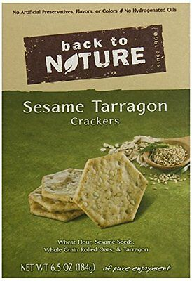 Back To Nature Crackers, Sesame Tarragon, 6.5 Ounce