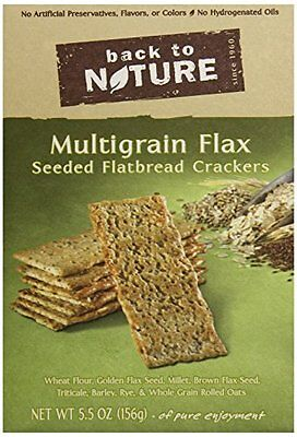 Back To Nature Flatbread, Multigrain Flax Seeded, 5.5 Ounce