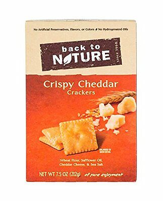 Back To Nature Crackers, Crispy Cheddar, 7.5 Ounce