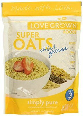 Love Grown Oats Super Simply Pure, 12 Oz