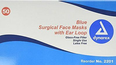 DISPOSABLE EARLOOP FACE MASK BLUE 4 Packs of 50 Bx