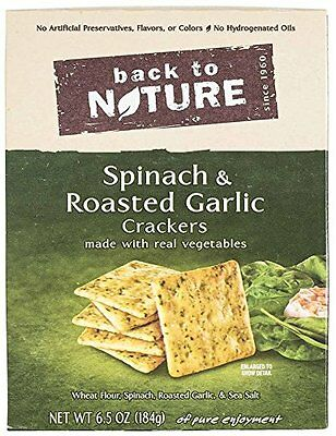 Back To Nature Crackers, Spinach and Roasted Garlic, 6.5 Oun
