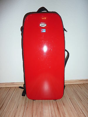 BAGS Altsaxophon Koffer, rot, Superbags, bag, alto sax case, allfiber, red