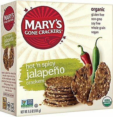 Mary's Gone Crackers Hot 'n Spicy Jalapeno, 5.5 Ounce Box (P