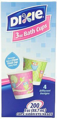 Dixie 3-Ounce Cups, Assorted Patterns, 200 Count Box (Pack o