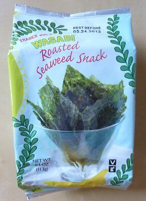 Trader Joe's Wasabi Roasted Seaweed Snack (Pack of 3)