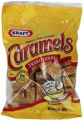 Kraft Caramels, Traditional, 9.5 Ounce Bags (Pack of 8)