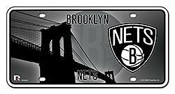 NBA Brooklyn Nets Metal Auto Tag