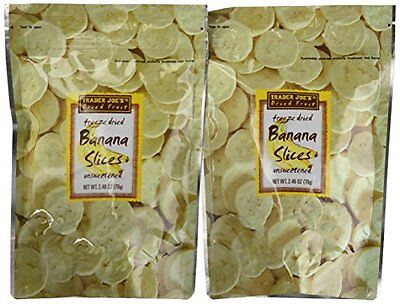 Trader Joe's Freeze Dried Bananas (2 Pack)