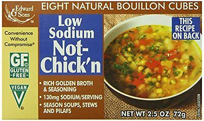 Edward & Sons Natural Bouillon, Low Sodium Not-Chick'n, 2.5