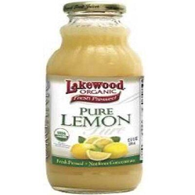 Lakewood Juice Pur Lemon Org, 32 Oz