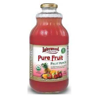 Lakewood Juice Pur Fruit Pnch Org, 32 Oz