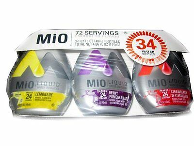 MiO Liquid Water Enhancer 3-1.62 FL OZ Bottles (Lemonade, Be