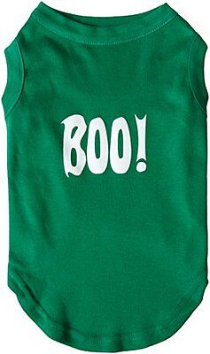 Mirage Pet Products Boo! Screen Print Shirts Emerald Green L