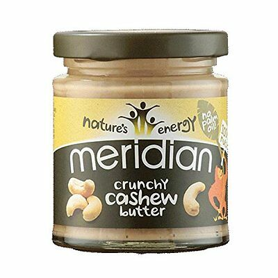 Meridian Natural Crunchy Cashew Butter 170 g (Pack of 3)