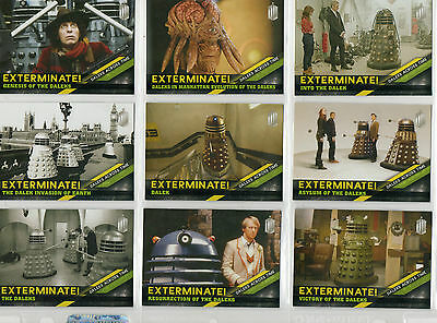 Dr Doctor Who Timeless  -  10-card Daleks Across Time chase set NM Topps 2016