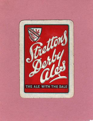 Strettons Derby Brewery - old playing card - please see scan