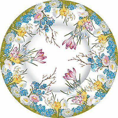 Ideal Home Range 8 Count Paper Dinner Plates, Decorative Eas