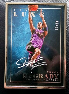 Tracy McGrady 2015-16 Panini Luxe Framed White Ink Auto 17/49