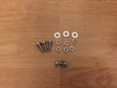 Lambretta Stainless Steel 18% Chrome Number Plate Fixing Kit Bolts Cross Head