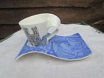 Villeroy & boch cities of the world Paris New wave mug and tray
