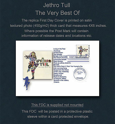 Jethro Tull The Very Best Of Jethro Tull Replica First Day Cover