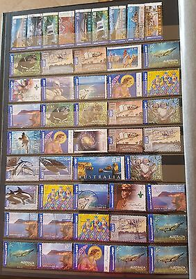 LOT OF 376 STAMPS Australia International Post - Used Selection Mixture 8 SCANS