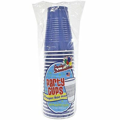 Party Dimensions 20 Count Plastic Cup, 12-Ounce, Blue