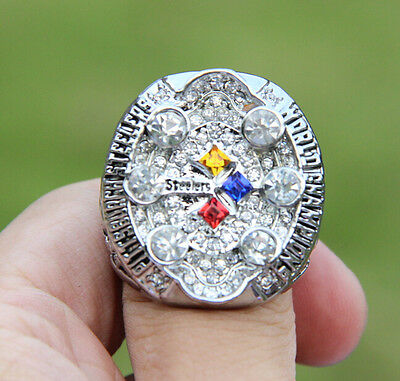 high quality 2008 Pittsburgh Steelers World Championship Ring Solid Fan Gift