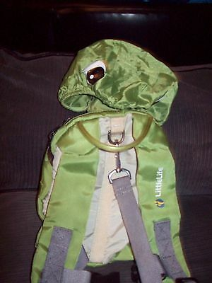 Littlelife Backpack with hood and parent strap.