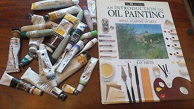 DK book Introduction to oil painting book and oil paints