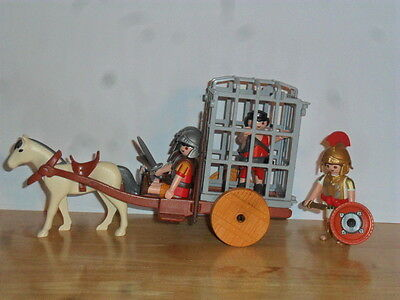 Playmobil - 2 Roman Soldiers, 1 Cart, 1 Gladiator, 1 Tribune, With Accessories