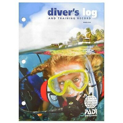 NEW PADI Blue Dive Logbook Training & Log Pages for 50 Dives - Current Version