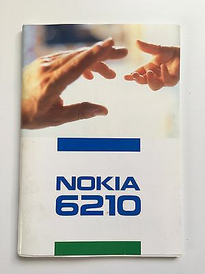 Genuine Nokia 6210 User Guide - Instructions - Official Nokia Guide - Used