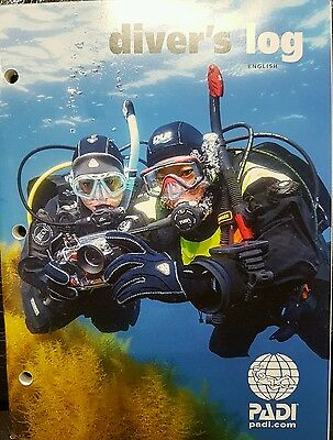 NEW PADI Red Dive Logbook Log Book Pages for 50 Dives - Current Version