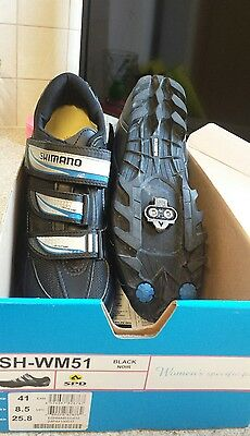 Shimano ladies 41 or UK 7 spd cycle shoes