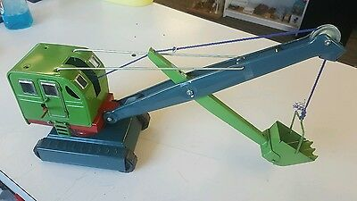 Soviet Vintage Russian Ussr Large 21'' Painted Metal Excavator Zil Toy