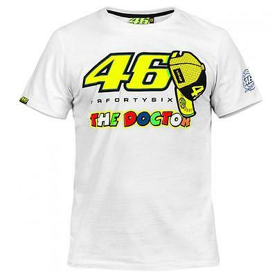 Valentino Rossi VR46 The Doctor 46 White Tee T-Shirt Size XL