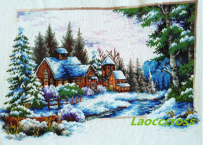 "NEW finished completed Cross stitch""beautiful winter""home decor gifts"