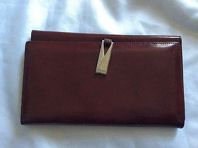 Vintage kenzo brown patent leather purse