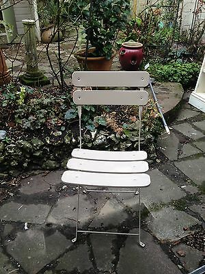 Pair of Metal Folding Garden Chairs
