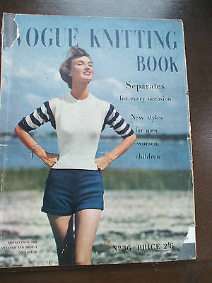 Vintage Vogue Knitting Book Magazine No. 36