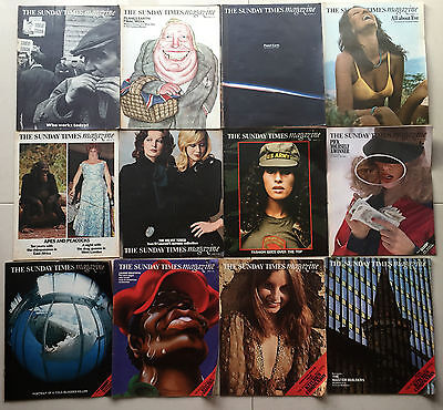 12 Vintage Issues 1971 Sunday Times Colour Magazine