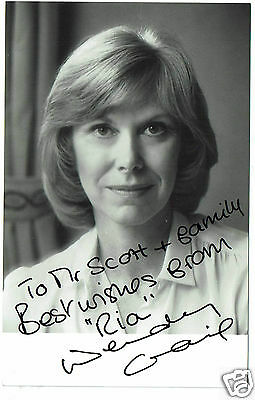 Wendy Craig  British Actress Butterflies   Hand Signed Photo 5 x 3