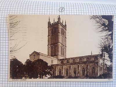 Ludlow Church Postcard 1957 Shropshire